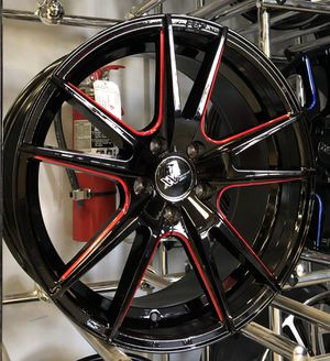 "NEW 18"" XXV Black Red Rims Wheels 5x4.5 Altima Accord Civic G37 18x8 for Sale in Tampa, FL"