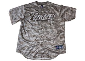 RARE Men's San Diego Padres Jersey Size XL (Majestic Jersey) Men's Size Extra Large Clothes. (Desert Camo Jersey Shirt Top) California / MLB / Baseba for Sale in Canton, MI