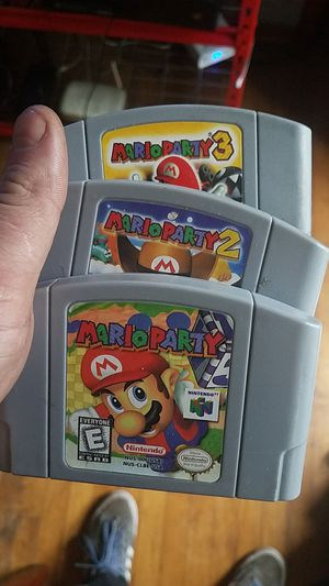 Mario Party 1 2 and 3 n64 for Sale in Chicago, IL
