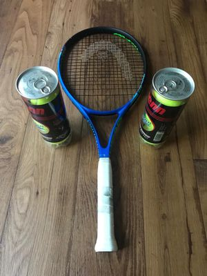 Tennis Racket with two pack of new balls for Sale in Franklin, TN