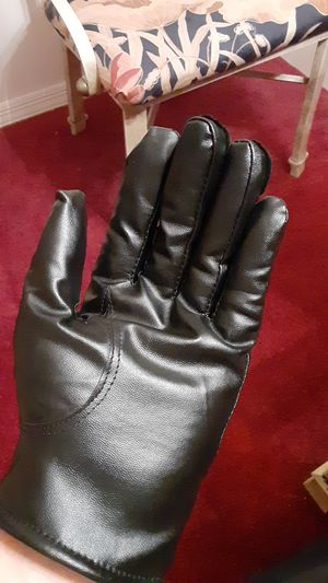 Black motorcycle riding gloves cotton fleece inside for Sale in NEW PRT RCHY, FL