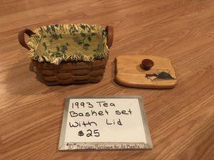 Longaberger Tea Basket Set for Sale in Mechanicsburg, PA