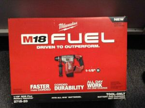 Milwaukee M18 FUEL 18-Volt Lithium-Ion Brushless Cordless 1-1/8 in. SDS-Plus Rotary Hammer (Tool-Only) for Sale in Stickney, IL