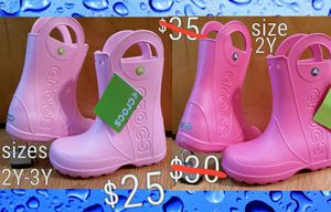 CROCS kids durable rain boots (galoshes) NEW for Sale in Inglewood, CA