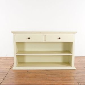 Restoration Hardware White Painted Wood Two Drawer Bookcase (1021092) for Sale in San Bruno, CA