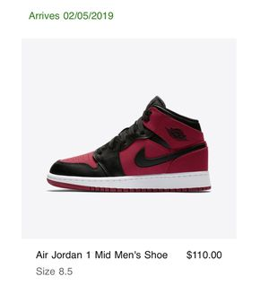 Jordan 1 mid gym red sz 8.5 DS for Sale in Fairfax, VA