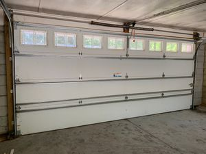 16 ft Garage door with tracks for Sale in Orlando, FL