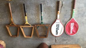 Lot of tennis rackets vintage for Sale in Chicago, IL