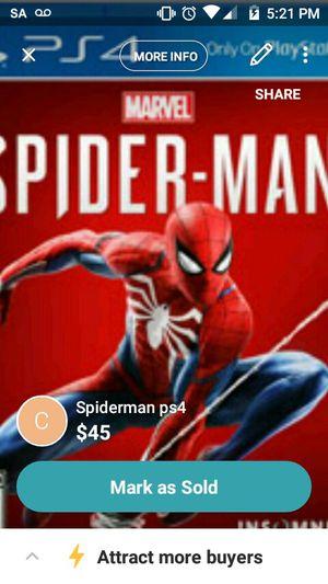 Spiderman ps4 for Sale in Grand Island, NE