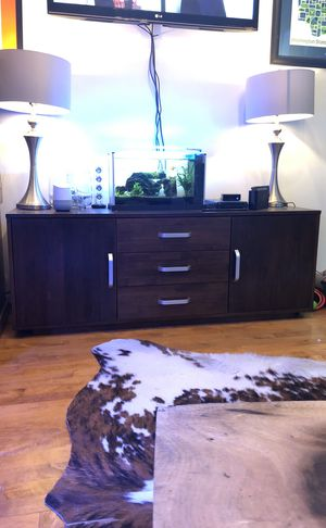 Dark Wood TV Stand / Console Table for Sale in San Francisco, CA