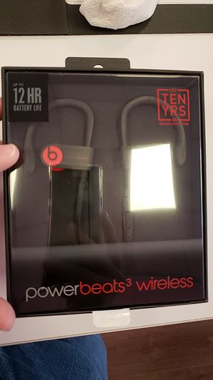 Powerbeats 3, Black/Red for Sale in Bristow, VA