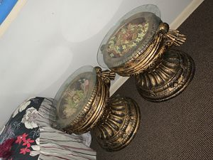 Glass end side tables 2 of them are available for Sale in Catonsville, MD