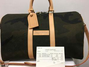 Original Supreme X Louis Vuitton Camo Keepall 45 Duffle Bag! for Sale in Miami, FL