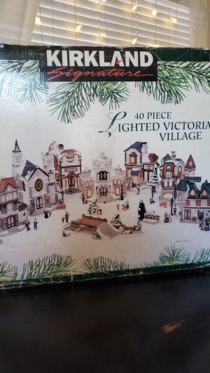 Christmas Home Decor Kirkland 40 piece Lighted Victorian Village complete for Sale in Huntington Beach, CA