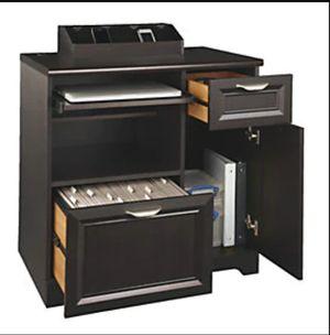 Compact Computer Desk, file cabinet & Printer Stand, Espresso for Sale in Belleville, IL