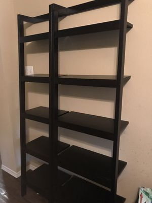 Two Crate & Barrel Leaning Shelves for Sale in Austin, TX