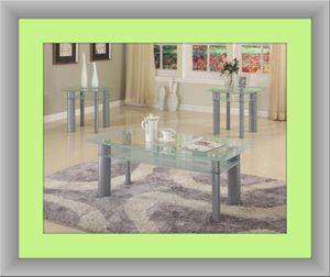 Glass white coffee table for Sale in Ashburn, VA