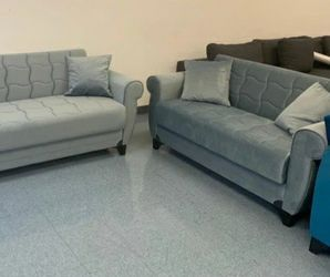 Same Day Delivery 🥏Blossom Gray Sleeper Sofa & Loveseat *** ¤sofa & Loveseat 🥏 for Sale in Houston,  TX