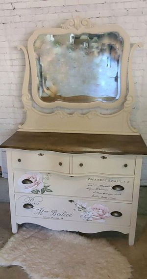 Refinished Antique Dresser with Mirror for Sale in Portland, OR