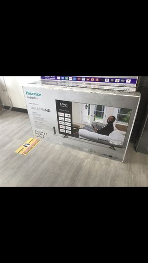 55 INCH HISENSE ANDROID ULTRA HD 4K SMART TV for Sale in Chino Hills, CA