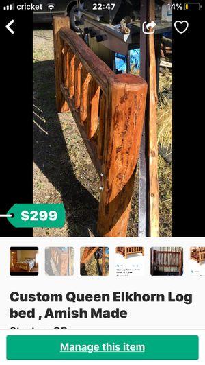 Elkhorn Log Furniture Queen for Sale in Bend, OR