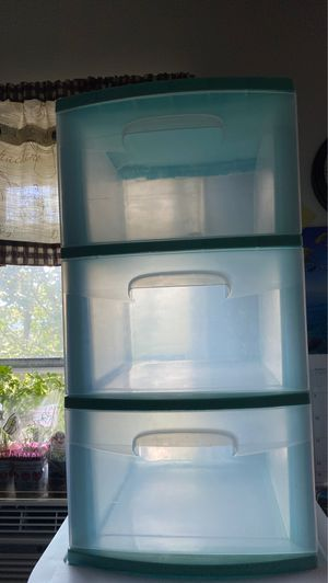 Turquoise Plastic Organizer Drawers for Sale in Ithaca, NY