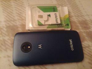 Motorola e5Cruise and new cricket SIM card for Sale in Spokane, WA