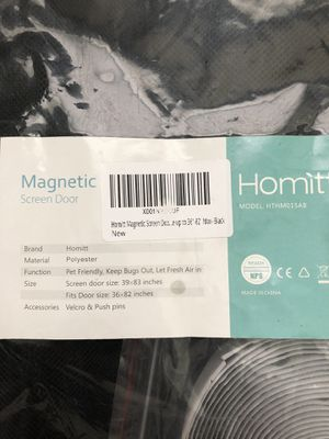Homitt Magnetic Screen Door for Sale in Murfreesboro, TN