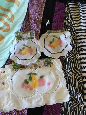 Hand crafted cotton table decorations for Sale in Roanoke, VA