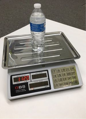 New in box 88lbs 40kg capacity 0.005lbs division accuracy market price conputing produce scale with rechargeable battery use wire or wirelessly for Sale in Los Angeles, CA