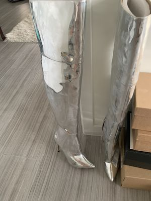 Silver Thigh High Boots (Aldo) for Sale in Hollywood, FL