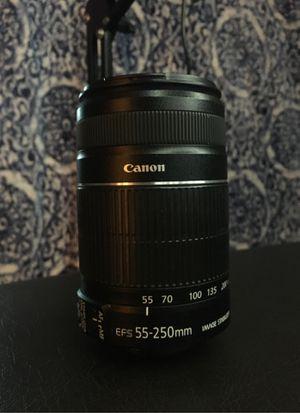 CANON 55mm-250mm lense for Sale in San Antonio, TX
