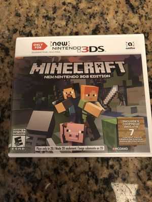 Minecraft New Nintendo 3DS Edition for Sale in Hialeah, FL