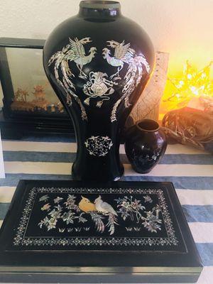 Korean antiques vase and cig holder for Sale in Ewa Beach, HI