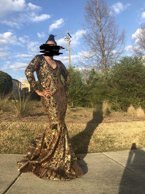 Black & Gold Mermaid Prom Dress for Sale in Union City, GA