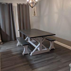 New Farmhouse Dining Table & Benches for Sale in Bothell, WA