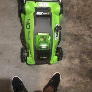 ... GreenworCordless Lawn Mower - for Sale in Ellenwood, GA