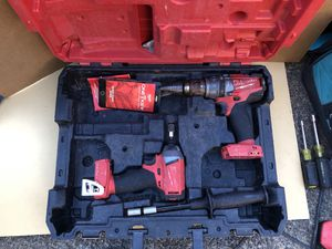 Milwaukee Bluetooth One Key 18v li-ion cordless set. for Sale in Portland, OR
