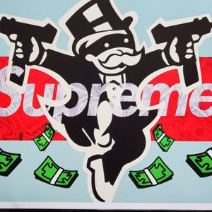 Monopoly X Supreme Hypebeast art wall Frame boost quality 350 offwhite Vans 11x17 for Sale in Upland, CA