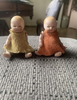 Antique German bisque baby dolls $20 both for Sale in San Bernardino, CA