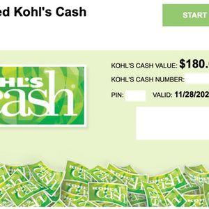 $180 Kohls Cash for Sale in Weston, FL
