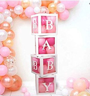 Baby shower decoration, Gender Reveal Baby girl and baby boy Boxes decoration for Sale in San Antonio, TX