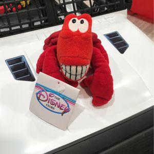 "Disney Store Mini Bean Bag Plush Sebastian Little Mermaid 8"" W/TAGS for Sale in Fairfax, VA"