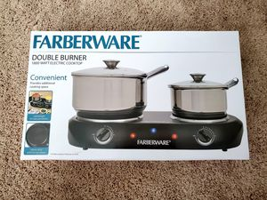 Double Burner Farberware for Sale in Cary, NC