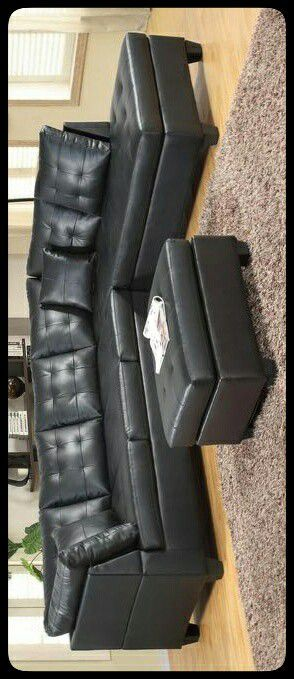 🆕SECTIONAL🆕 Pollock Black Sectional for Sale in Mount Rainier, MD