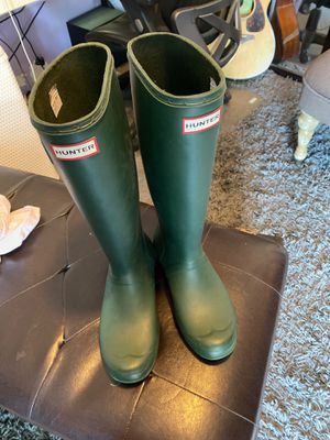 Women Hunter Green Rain Boots size # 10 for Sale in San Diego, CA