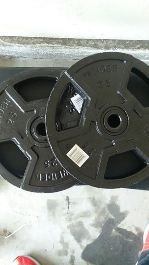 25 lb plates. 1 in holes. Very dense for Sale in Artesia, CA