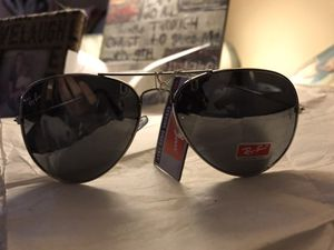 Ray ban large frame black blaze mirror lens with gun metal frames brand new w tags sunglasses 62mm/14 rb3026 for Sale in McDonough, GA