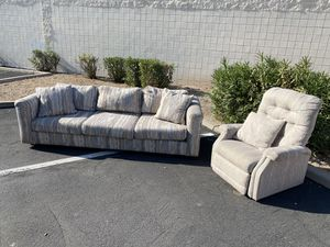 Antique couch / sofa and chair / recliner for Sale in Phoenix, AZ