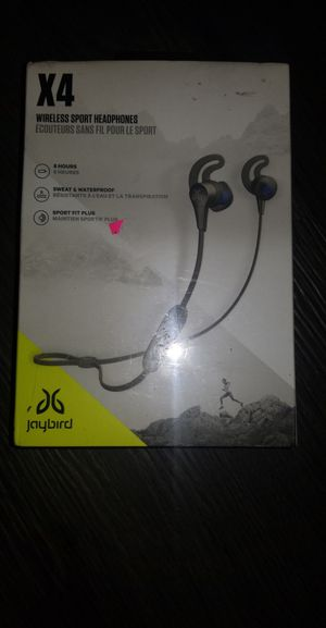 Jaybird x4 wireless sport headphones for Sale in Lebanon, PA